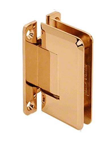 CRL Pinnacle 537 Series Gold Plated Wall Mount Full Back Plate Standard Hinge with 5186; Offset