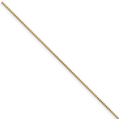 ICE CARATS 14k Yellow Gold .95mm Link Box Bracelet Chain 7 Inch Fine Jewelry Gift Set For Women Heart by ICE CARATS