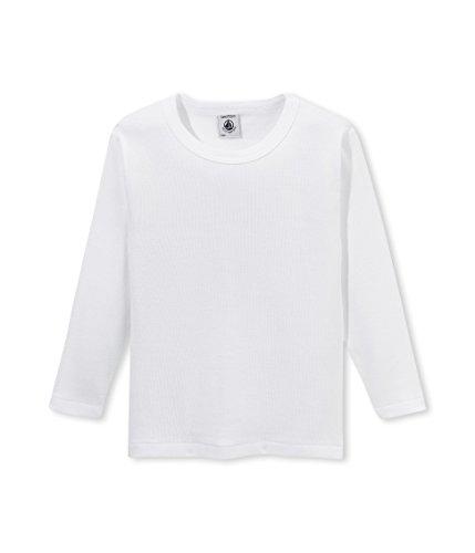 Petit Bateau Jungen Unterhemd T SHIRT ML, Einfarbig, Gr. 140 (Herstellergröße: 10ans/140cm), Weiß (ECUME 01)