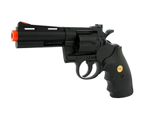 UHC UA937 Airsoft Spring Action Revolver Pistol Gun w/Shells for BBS 4 inch Barrel Black