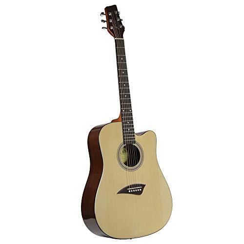 (Kona K1 Acoustic Dreadnought Cutaway Guitar in Natural Satin Finish)