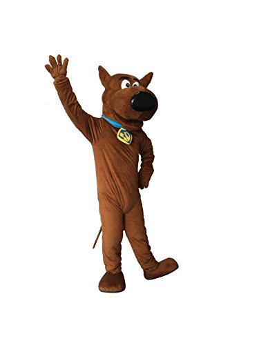 rushopn Adult Size SCOOBY DOO Dog Mascot Costume (Scooby Doo Costumes For Adults)