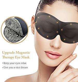 Upgraded Magnetic Sleep Mask for Women Men & Kids, Ehomi Eye Mask Eye Cover for Sleeping, Blindfold 3D Contoured Sleeping Mask, Great for Nighttime, Travel, Shift Work & Meditation, Black