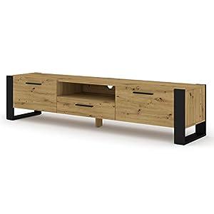 BIM Furniture Nuka Meuble TV, bas, 200cm, commode, table Hi-Fi