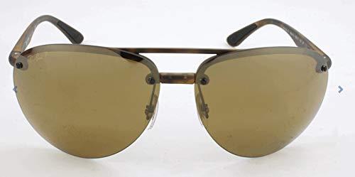 Ray-Ban RB4293CH Chromance Mirrored Aviator Sunglasses, Matte Tortoise/Polarized Bronze Mirror, 65 ()