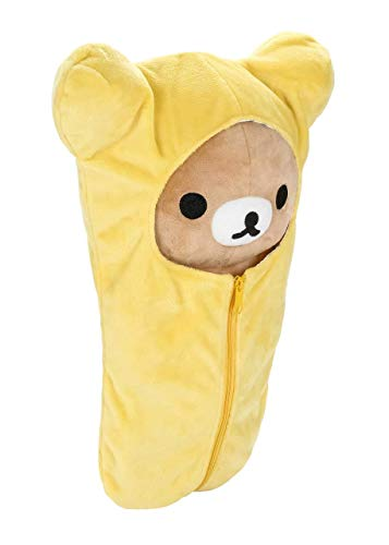 Rilakkuma Sleeping Bag Plush | Yellow - 15 Inch | San X Plushie 3