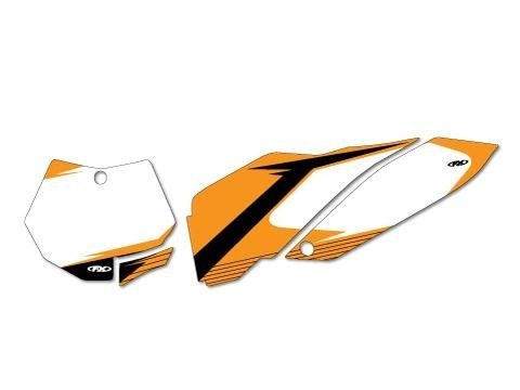 Factory Effex (12-64526 White Pre-Cut Number Plate Graphic ()