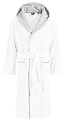 Cairo mantello e sauna m2 cappuccio 4 peso donna per accappatoio uomo nbsp;G 360 Egeria nbsp;colori cotone in Bianco 100 con dxwE8dq