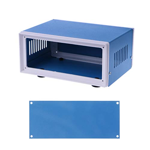 PoityA Blue Metal Enclosure Project Case DIY Junction Box 6.7