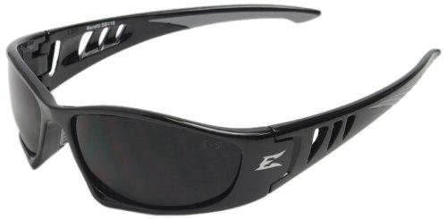 Edge Eyewear SB116 Baretti Safety Glasses, Black with Smoke Lens