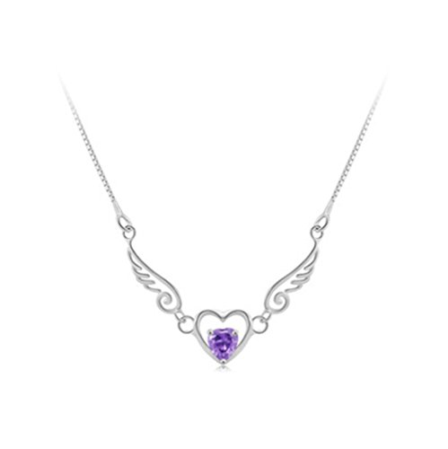 FINE FOOK Sterling Amethyst Necklace