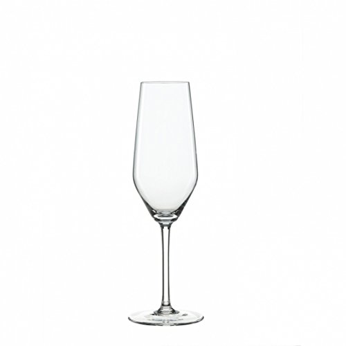 Clear Glass Sets, 4pcs Spiegelau Style 8.5 Oz Champagne Flute Drinking Glass Set ()