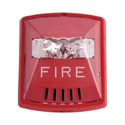 (Wheelock HSR Exceder Fire Alerting Strobe Horn RED,2W,Wall Mount, 12/24V,)
