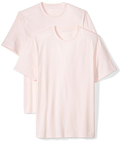 (Amazon Essentials Men's 2-Pack Loose-Fit Short-Sleeve Crewneck T-Shirts, light pink, XX-Large)