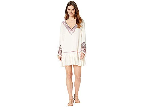 Free People Women's Wild One Embellished Mini Dress Ivory Small