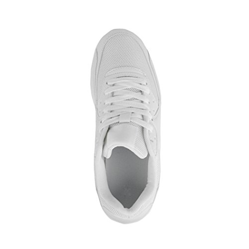 Herren Sport Tendance Blanc Chaussures Hommes Turnschuhe De Laufschuhe Damen Sneaker Kinder Enfants White Unisex Trendige Course La Chunkyrayan Espadrilles Femmes Unisexe q4x0XSR