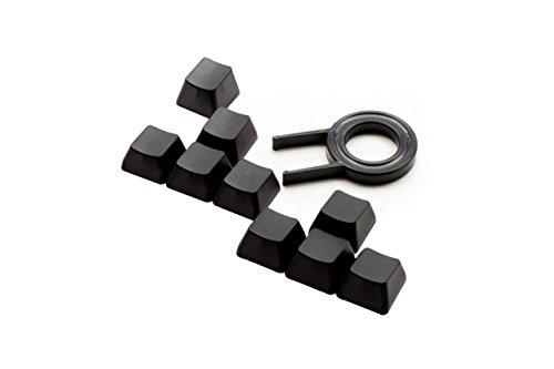 Max Keyboard Translucent Cherry MX Keycap Set for ESC, W,A,S,D or E,S,D,F and Arrow Keys (Black Translucent - Blank/No Print)