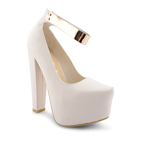 Footwear Sensation - Sandalias de vestir para mujer negro negro blanco