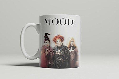 Disney Hocus Pocus Costumes (Mood: Hocus Pocus Mug, Sanderson Sisters, Mood, Coffee mug, Halloween Mug, Funny Mug, Movies Mug, gift for friend, 11oz, 15oz, Double sided image)
