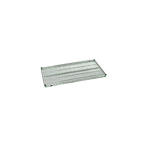 "Metro A2460NK3 Super Adjustable Metroseal 3, Steel Wire Shelf with Microban, 600 lb. Capacity, 1"" Height x 60"" Width x 24"" Depth (Pack of 2)"