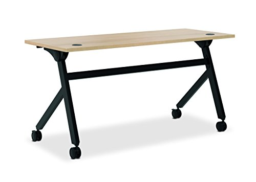 Office Star Resin - HON Assemble Flip Base Multi-Purpose Table, 60-Inch, Wheat/Black (HBMPT6024P)