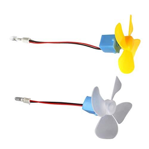 joyMerit 2Pcs Mini Vertical Wind Turbines Generator 4 Leaves Turbines DIY Kit Breeze Electricity Small Motor