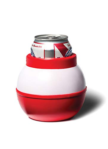 BigMouth Inc. Fishing Bobber Drink Kooler -Fits 12 oz Can, Red/White -Insulated Foam DrinkCoolerShaped Like a Fishing Bobber, Keeps Your Hands Warm and Your Drink Cold -Perfect for Fishing