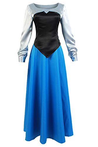 SIDNOR The Little Mermaid Ariel Cosplay Costume Princess Party Dress Ball Gown Outfit (Medium)]()