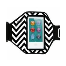 Agent18 iPod Nano Armband (7th Gen Nano) - Chevron Black/White