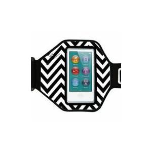Agent18 iPod Nano Armband (7th Gen Nano) - Chevron Black/White