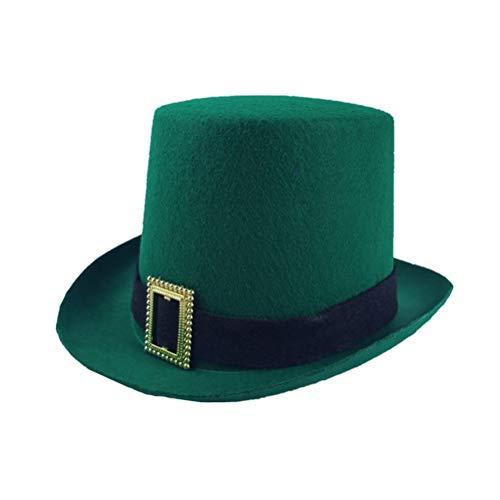 BESTOYARD Sombrero Día de San Patricio Sombrero Festival irlandés Decoración Sombrero Sombrero divertido para fiesta...