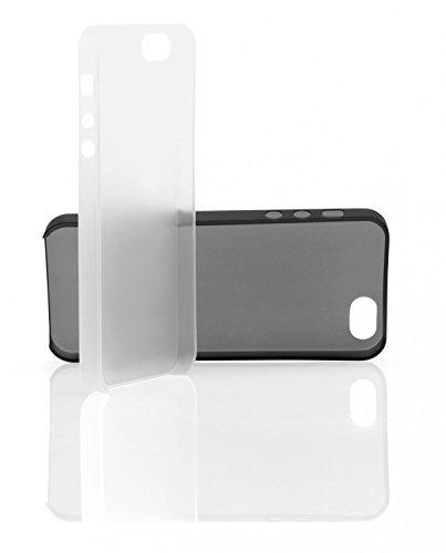 2 x Ultra dünne Schutzhüllen iPhone 5s / 5 Hülle in schwarz und weiß transparent