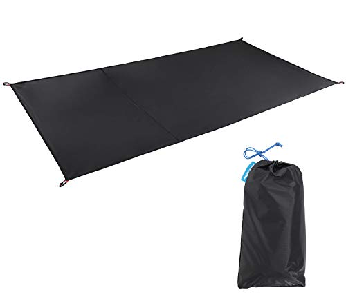 MIER 1-2 Person Ultralight Waterproof Footprint Outdoor Camping Tent Tarp Canopy Blanket Picnic Ground Sheet Mat, Ultralight Tent Fitted, 2 Person - Footprint 1 Person