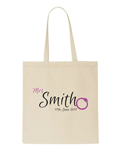 Party Elegant Do Shopper Style Hen Bride Be Bag Personalised Surname Tote New Hen Bag To Natural T0SxwdTq