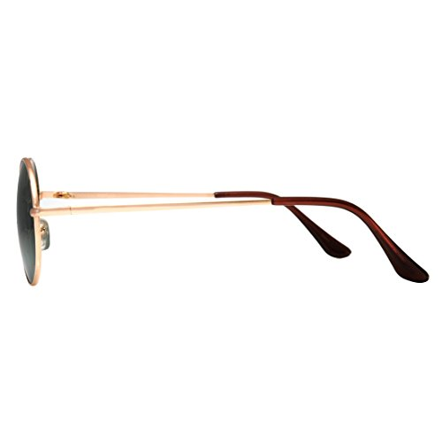 de Gold Lens Espejo sol Gafas Uv400 Brand O 4sold New Round Unisex qxTBawnUp