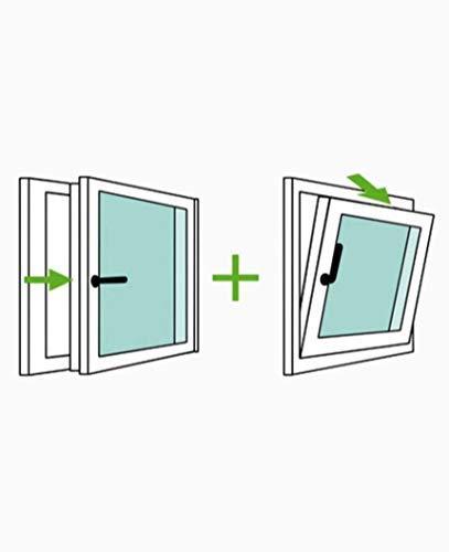 Alto aislamiento termico y acustico Apertura Derecha Ventana PVC 60 cm x 70 cm Oscilobatiente Resistente a humedad REGALO Garras de fijaci/ón TermProtect Practicable Resistente al sol