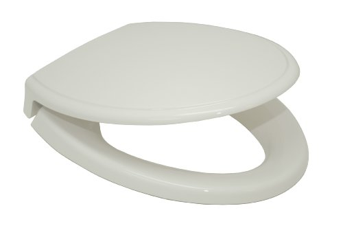 Elongated SoftClose Toilet Seat - Finish: Colonial White