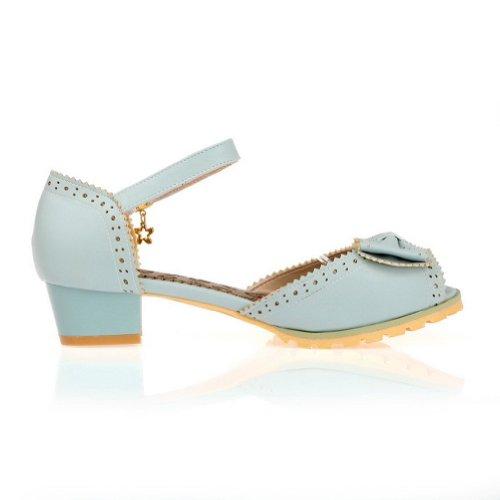 Talons Femme faible Chaussures Bleu Boucle balamasa Solide Sandales IqzwP