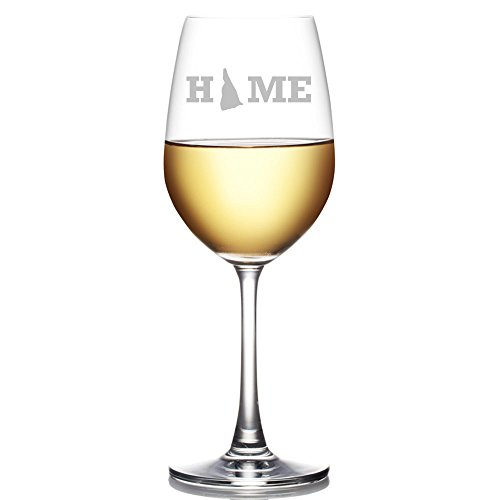 - My Home State New Hampshire Engraved 18-ounce Wine Glass