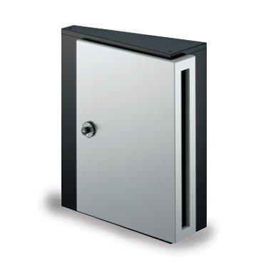 郵便ポスト NASTA デザインポスト KS-MB31S-L 静音大型ダイヤル錠 壁付けポスト モダンブラック B00QX1232I 17820  モダンブラック