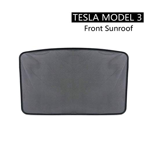 ROCCS Tesla Model 3 Front Sunroof Sunshade, Windshield Glass Roof Car Skylight Blind Shading Net