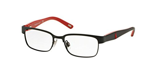 Polo PP8036 Eyeglass Frames 3136-46 - Satin Black/black Red