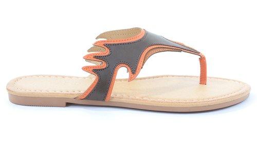 Flame Slip-on Thong Slide Womens Vegan Flip Flop Sandals kDpYhTm