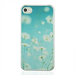 Kelaie White Flowers Pattern PC Hard Case Cover for iPhone 5C +Screen Protector