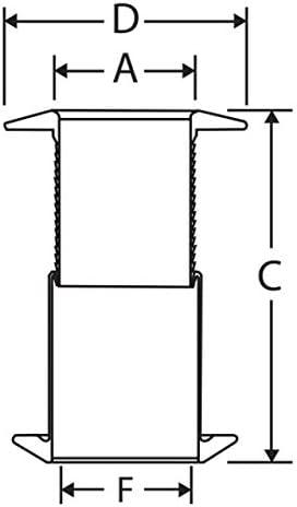Nuova Rade 1 1//4 Borddurchlass 28-75 mm Teleskop b/ündiger Flansch wei/ß Borddurchf/ührung