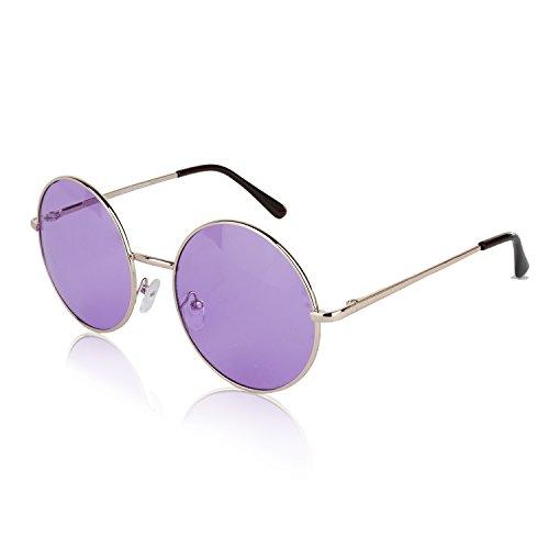 Pro Retro Flash Sunglasses For Teen Teens Girls Color Tint Lens Shades Purple -