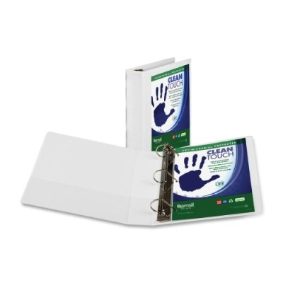 Samsill 3-Inch Clean Touch Antimicrobial View Binder, D-ring, White (16287)