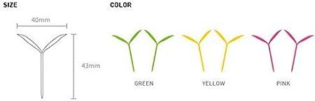 couleur aleatoir JUNGEN 6 X marque-page Creative peu signets vert Silicone des bourgeons mignonne petite herbe