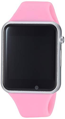 Girls Womensmart Watch PLYSIN Bluetooth Touch Screen Smartwatch Unlock Cell Phone Sim 2G GSM Camera Sleep Monitor, Push Message, Anti Lost Etc Men Women Kids (Pink)