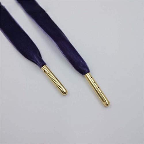TMYQM スニーカースポーツシューズ1.27センチメートル幅メタルのヒントフラット片面ベルベット靴ひも靴ひも (Color : 1627 2 Blue Purple G, Size : 80cm)